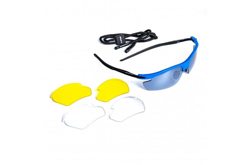Спортивные очки DEMETZ LAZER-RUN DHB0068 blue/mat