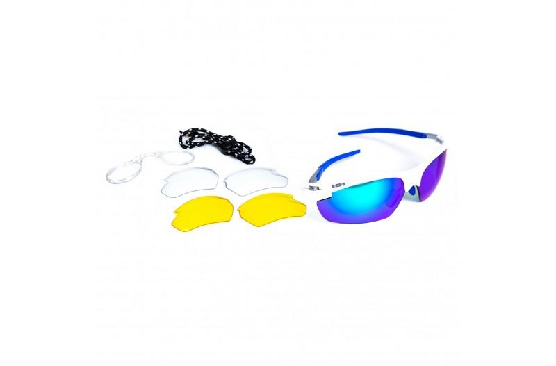 Спортивные очки DEMETZ LEISURE blanc/bleu